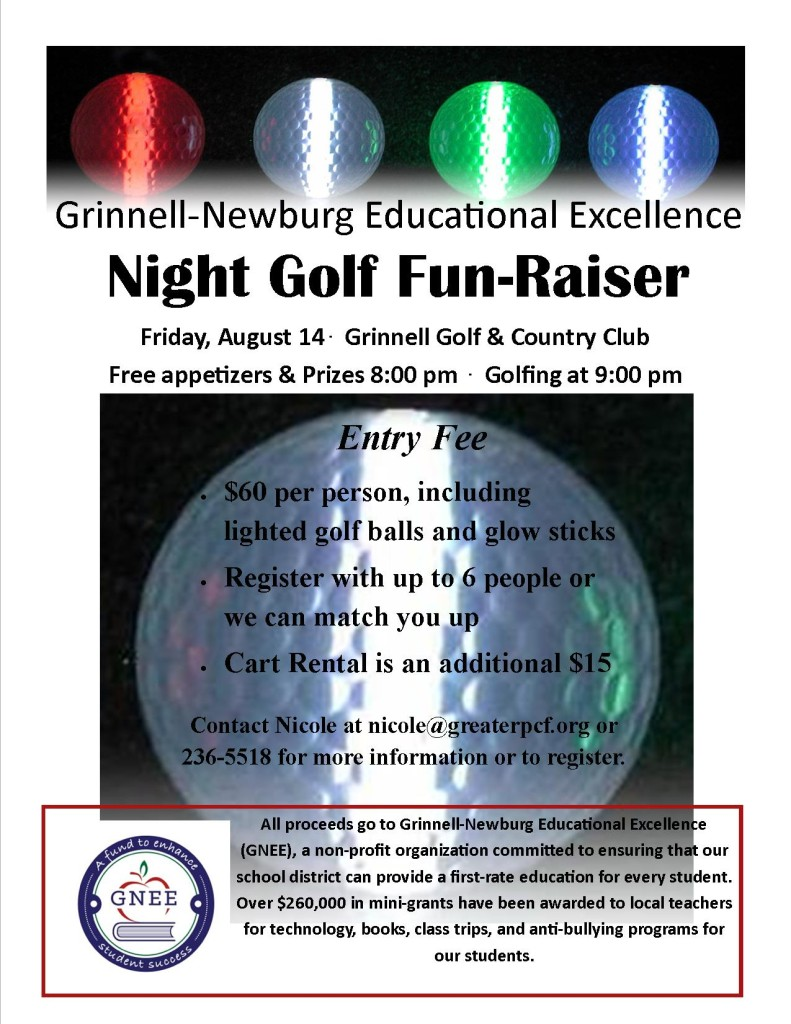 gene night golf flyer